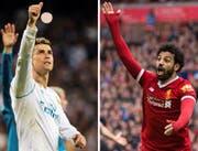 Spektakel dürfte garantiert sein: Cristiano Ronaldo und Mohamed Salah. (Bilder: Rodrigo Jimenez, Peter Powell/EPA)