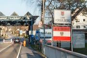 Grenzübergang Gaissau, aus der Ostschweiz gesehen. (Bild: Hanspeter Schiess)
