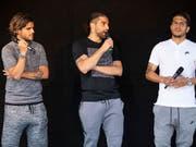 Von links: Francisco Rodriguez, Ricardo Rodriguez und Roberto Rodriguez (Bild: KEYSTONE/PATRICK HUERLIMANN)