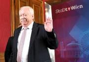 Michael Häupl im Rahmen einer PK nach einer Sitzung der Landeshauptleute-Konferenz in Wien. (Roland Schlager/APA (Wien, 18. Mai 2018))