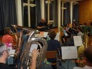 Der Musikverein hat sich unter der Leitung von Willi Truttmann auf das Jahreskonzert vorbereitet. Bild PD (Flüelen, 15. Mai 2018)