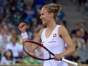 Viktorija Golubic schaffte am French Open in Paris den Sprung ins Haupttableau (Bild: KEYSTONE/GEORGIOS KEFALAS)