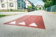 Sogenannte Berliner Kissen waren im vergangenen Jahr als Versuch auf der alten Poststrasse zu finden. Neu hat sie die Behörde auf Juch- und Hardstrasse installieren lassen. (Bild: Andrea Stalder)