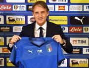 Italiens neuer Nationaltrainer Roberto Mancini. Bild: Claudio Giovannini/EPA