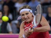 Für Timea Bacsinszky geht der harte Kampf auf der Tour weiter (Bild: KEYSTONE/GEORGIOS KEFALAS)