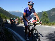 Sébastien Reichenbach setzt sich am Giro in Szene (Bild: KEYSTONE/LAURENT GILLIERON)