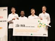 Die Gewinner des Schweizer Mini-Unternehmer-Wettbewerbs: Schüler der Kantonsschule Hottingen aus Zürich. (Bild: YES)