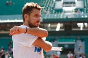 Stan Wawrinka während des Trainings am French Open. Bild: Claude Diderich/Freshfocus (Paris, 26. Mai 2018)