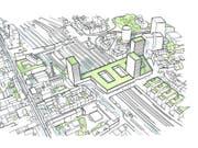Aus dem heute geschlossenen Postbalken über den Geleisen des Basler Bahnhofs SBB soll bis 2028 ein moderner Mischkomplex mit drei Hochhäusern am Rand werden. (Bild: Post)