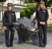 Die künftigen Polizeikommissarinnen Lamping und von der Lieth zu Gast im Kanton Uri. (Bild: PD)