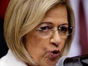 Erste Präsidentin von Paraguay: Alicia Pucheta de Correa im Parlament in Asunción (Aufnahmen vom 9. Mai 2018). (Bild: KEYSTONE/AP/JORGE SAENZ)