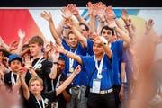 Das Team des FC Zuwebe gewinnt die Fussballkonkurrenz. Bild: PPR Media Relations AG/PD