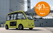 An der diesjährigen Ligha bringt ein selbstfahrender Kleinbus die Besucher vom Parkplatz zum Messeeingang. (Bild: ikr)