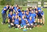 Riesenjubel bei den Frauen des FC Buchs: Sie steigen in die 2. Liga auf. (Bild: PD)