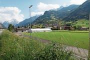 Der Sportplatz Allmend wird viel genutzt – zurzeit für das kantonale Schwingfest. (Bild: Florian Arnold (Attinghausen, 29. Mai 2018))