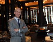 Der Waadtländer Yean-Yves Blatt bei seinem Antritt als General-Manager des «The Chedi Andermatt». (Foto: Urs Hanhart, 15. Juli 2015)