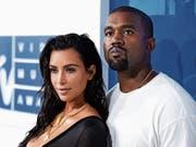 Kanye West mit Ehefrau Kim Kardashian.