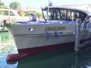 Die Bielersee-Schifffahrts-Gesellschaft hat ein Schiff auf den Namen «Engelberg» getauft. (Bild: PD)