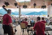 Zum 14. Mal dabei: Carlo Brunners Superländler Kapelle am letztjährigen Heirassa-Festival. (Bild: Dominik Wunderli (Weggis, 14. Juni 2017))