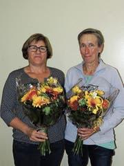Jubiläen: Silvia Kreuzer und Vreni Staufer engagieren sich bereits seit 15 und 10 Jahren für die Spitex Region Müllheim. (Bild: PD)