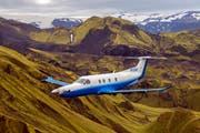 Ein PC-12 NG über Island. (Bild: PD)