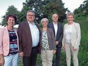 Die CVP-Kandidaten: Isabelle Menzi, Andreas Kaiser, Susan Staub, Andreas Etter und Monika Barmet.B (Bild: ild: Ruedi Burkart (29. Mai 2018))