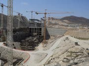 Äthiopien baut seit 2012 an dem vier Milliarden Dollar teuren Staudamm. Ägypten sieht durch den Staudamm seine Wasserversorgung in Gefahr. (Bild: KEYSTONE/EPA/STR)