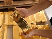 Weltweit ist die Nachfrage nach Gold auf tiefsten Stand seit zehn Jahren gefallen. (Bild: Keystone/MARTIN RUETSCHI)