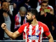 Schoss Atlético Madrid in den Europa-League-Final: Diego Costa (Bild: KEYSTONE/EPA EFE/JUANJO MARTIN)