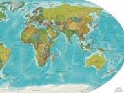 Auf dieser CIA-Weltkarte ist Neuseeland zu sehen, unten rechts neben Australien. (Bild: wikipedia)