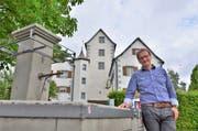 «Wir sind stolz auf das Schloss und unseren Dorfkern»: OK-Präsident und Gemeinderat Markus Zürcher. (Bild: Max Eichenberger)