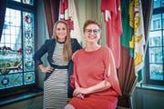 Die neue Vizepräsidentin und die neue Präsidentin strahlen: Severine Hänni und Barbara Dätwyler Weber. (Bild: Andrea Stalder)