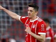 Goalgetter Robert Lewandowski könnte Bayern München verlassen (Bild: KEYSTONE/AP/MATTHIAS SCHRADER)