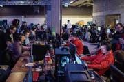 E-Sport-Turniere, wie die LAN-Party in der Olma-Halle, sollen künftig öfter in St.Gallen stattfinden. (Bild: Urs Bucher (7.Januar 2018))