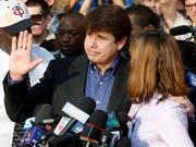 Rod Blagojevich mit seiner Frau im März 2012, kurz bevor er seine Haftstrafe angetreten hatte. (Bild: KEYSTONE/AP/M. SPENCER GREEN)
