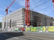 Die Bauwirtschaft konsolidierte sich im ersten Quartal: Neubau des Kunsthauses in Zürich. (Bild: KEYSTONE/WALTER BIERI)