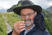 Ebenalp-Bähnler Paul Ambühl weiss, wo seltene Bergblumen wachsen. (Bilder: Urs Oskar Keller)