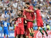 Können die portugiesischen Spieler einen weiteren Coup landen? (Bild: KEYSTONE/AP/MARTIN MEISSNER)