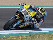 Tom Lüthi am Samstag auf dem Circuit in Jerez (Bild: KEYSTONE/EPA EFE/JOSE MANUEL VIDAL)