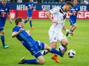 Luzern Captain Claudio Lustenberger bestritt sein 400. Spiel für den FC Luzern (Bild: KEYSTONE/ALEXANDRA WEY)