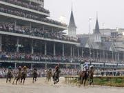 Schlammschlacht beim Kentucky Derby (Bild: KEYSTONE/AP/DARRON CUMMINGS)