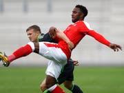 Der Schweizer Nachwuchs-Internationale Ulisses Garcia schaffte mit dem 1. FC Nürnberg den Aufstieg in die deutsche Bundesliga (Bild: KEYSTONE/PETER KLAUNZER)