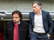 Ausgang ungewiss: Christian Constantin und Maurizio Jacobacci stecken mit Sion tief im Abstiegskampf (Bild: KEYSTONE/ALEXANDRA WEY)
