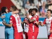 Der FC Thun hat sich den Klassenerhalt so gut wie gesichert (Bild: KEYSTONE/PETER SCHNEIDER)