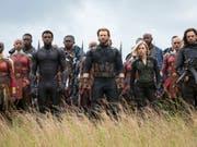 """""""Avengers: Infinity War"""" hat die Kinocharts in der Schweiz auch am zweiten Wochenende nach dem Start am 26. April dominiert. (Bild: Keystone/AP Disney-Marvel/CHUCK ZLOTNICK)"""