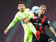 Gianluca Frontino (gelb) war in Wohlen Matchwinner für den FC Aarau (Bild: KEYSTONE/VALENTIN FLAURAUD)