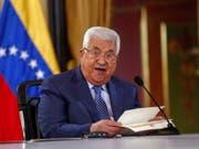 Palästinenserpräsident Mahmud Abbas bei seinem Besuch in Venezuela. (Bild: KEYSTONE/EPA EFE/CRISTIAN HERNANDEZ)