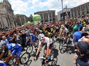Die 5. Etappe des Giro d'Italia 2018 endete mit dem Tagessieg des Italieners Enrico Battaglin (Bild: KEYSTONE/EPA ANSA/DANIEL DAL ZENNARO)
