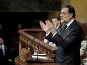 Der spanische Ministerpräsident Mariano Rajoy ist vom Parlament abgewählt worden. (Bild: KEYSTONE/EPA/JAVIER LIZON)