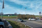 Ein Tunnel wird den Kreisel Süd mit der nördlich gelegenen neuen Bachtalbrücke verbinden. (Bild: Maria Schmid (Sins, 22. November 2017))